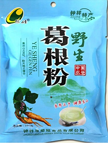 Helen Ou@hubei Specialty: Han Wa the Wild Root of Kudzu Vine Powder Pure and Natural and Organic Arrowroot Rich in Isoflavone Meal Replacement Powder 160g/5.64oz/0.35lb