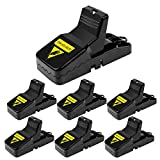 Diaotec Mouse Trap, Rats/Mice/Rodents Snap Traps That Work Quick Kill - Sensitive and Effective Mice Control/Catcher (6 Pack)