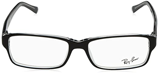 45868866e93 Ray-Ban RX5169 Glasses in Black on Transparent RX5169 2034 52  Ray Ban   Amazon.co.uk  Health   Personal Care