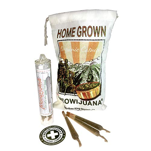 Meowijuana Catnip Joints, Grown in The USA, Feline Approved, Infused with Maximum Potency Your Cat is Guaranteed to go Crazy for! Great Gift for Cat Lovers!