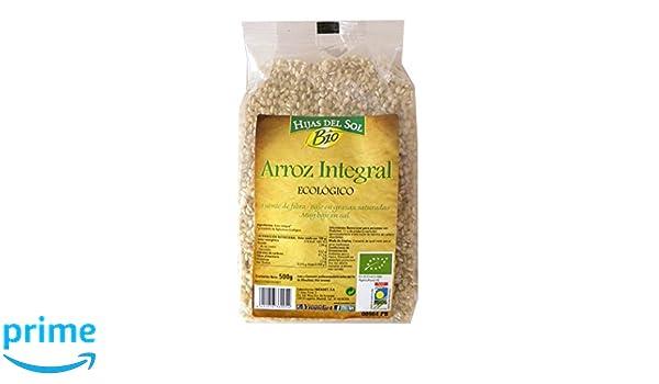 Hijas Del Sol Bio Arroz Integral - 500 gr - [Pack de 4]: Amazon.es: Alimentación y bebidas
