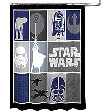 "Star Wars Classic Quilt Microfiber 70"" X 72"" Fabric Shower Curtain"