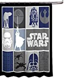 Star Wars Classic Quilt Microfiber 70'' X 72'' Fabric Shower Curtain