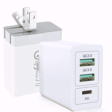 Amazon.com: [QC 3.0 + 2 USB] Cargador rápido de pared ...