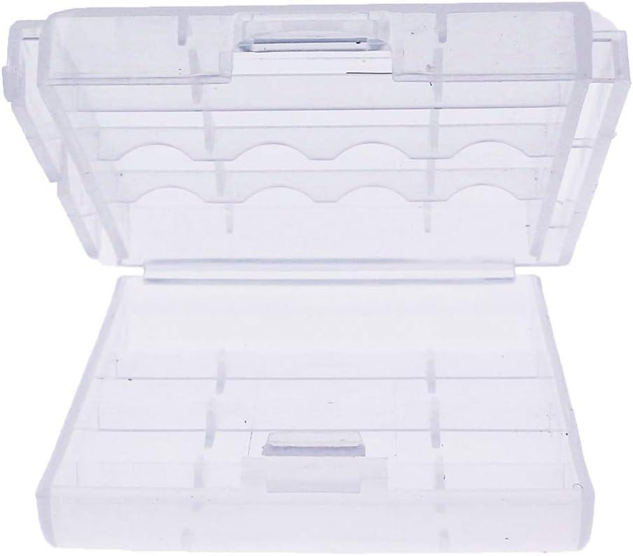 Caja Box Almacenado para Pilas AA, Blister Plástico Estuche Cubierta Color Transparente: Amazon.es: Electrónica