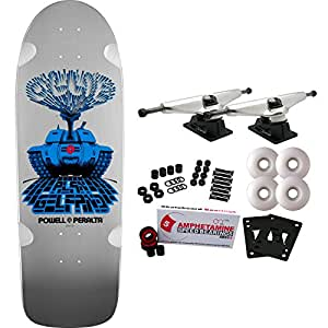 POWELL PERALTA Skateboard Complete GELFAND TANK Old School SILVER Re-Issue