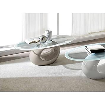 Tavolino salotto caffè Design Zamagna Tunnel fibra vetro piano ...