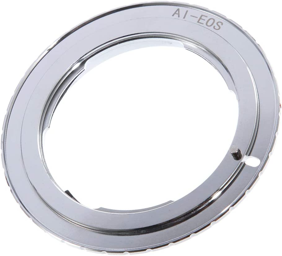 FocusFoto 9th Gen AF Confirm Adapter for Nikon AI F Lens to Canon EOS EF EF-S Mount Camera 80D 77D 70D 60D 5D Mark II III 5D2 5D3 7D 6D 3000D 1500D 1300D 1200D 800D 760D 750D 700D 650D 100D