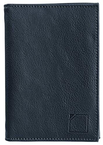 Lewis N. Clark RFID-Blocking Leather Passport Holder Case, Black