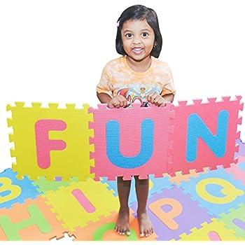 Alphabet & Language Blocks, Tiles & Mats Prosource Kids Foam Puzzle Floor Play Mat With Shapes & Colors Or Numbers & Alph