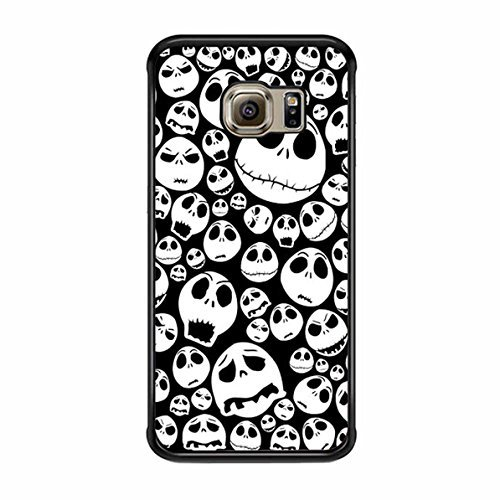 Halloween Ghost Emoticon Face Pattern Samsung Galaxy S6 Edge Plus Case (Black Plastic) -