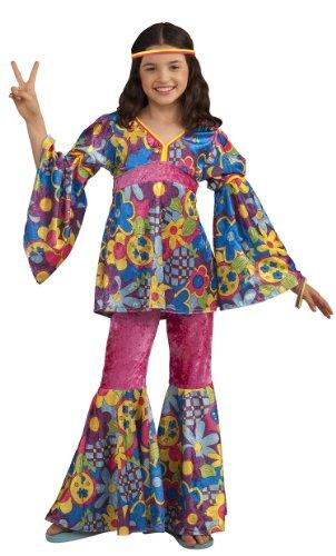 Flower Child Costume (Forum Novelties Deluxe Designer Collection Flower Power Costume, Child Large)