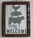 All Are Welcome Framed Sign | by Urban Legacy