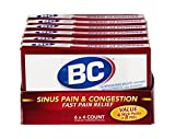 BC Sinus Pain & Congestion Powder Stick Packs 4ct | Pack of 6