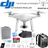 DJI Phantom 4 Quadcopter Drone FPV Virtual Reality Experience w/ Hardshell Backpack includes Drone, Backpack, Battery, Propeller Guards, 32GB microSDHC Memory Card and VR Vue Virtual Reality Viewer