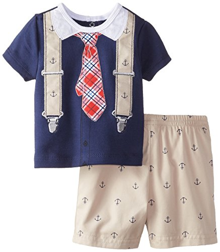 Little Me Baby-Boys Anchor Short Set