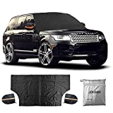 JOKBEN Magnet Car Windshield Snow Cover - Window Cover Sunshade Snow Covers with Magnet Edges and Windproof Straps - Extra Large Size for Most Car - Truck - SUV 85