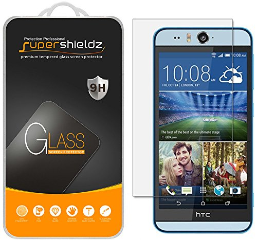 [2-Pack] Supershieldz for HTC Desire Eye Tempered Glass Screen Protector, Anti-Scratch, Anti-Fingerprint, Bubble Free, Lifetime Replacement Warranty