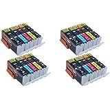 Start - 20 Cartucce d'inchiostro compatibili per Canon PGI-550XL CLI-551XL Alta Capacita Compatibile con Canon PIXMA MG5450 MG5550 MG5650 MG6350 MG6450 MG6650 IX6850 MG7150 MX725 IP7250 MX925 (4 grande Nero,4 piccolo Nero, 4 Ciano, 4 Magenta, 4 Giallo)