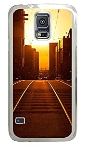 Samsung Galaxy S5 Sunset Cityscapes PC Custom Samsung Galaxy S5 Case Cover Transparent