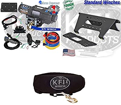 2015-2016 Polaris Ranger XP 570 4500lb Winch, Winch Mount and Winch Cover Upgrade Cable Synthetic Winch rope