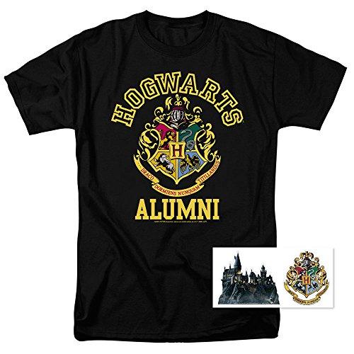 Popfunk Harry Potter Hogwarts Alumni T Shirt & Exclusive Stickers (X-Large) (Alumni Tee)