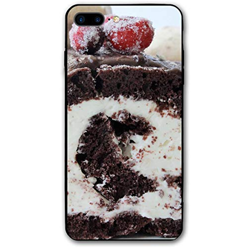 Christmas Yule Cake Log iPhone 8 Plus Case, iPhone 7 Plus Case, Ultra Thin Lightweight Cover Shell, Anti Scratch Durable, Shock Absorb Bumper Environmental Protection Case Cover (Best Christmas Log Cake)