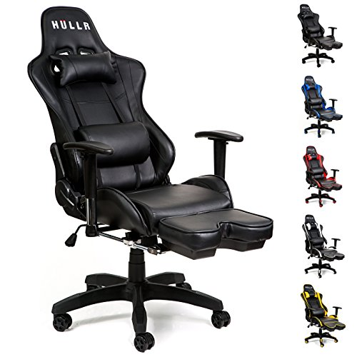 Charmant HULLR Gaming Racing Computer Office Chair With Foot Rest, Executive High  Back Ergonomic Reclining Design