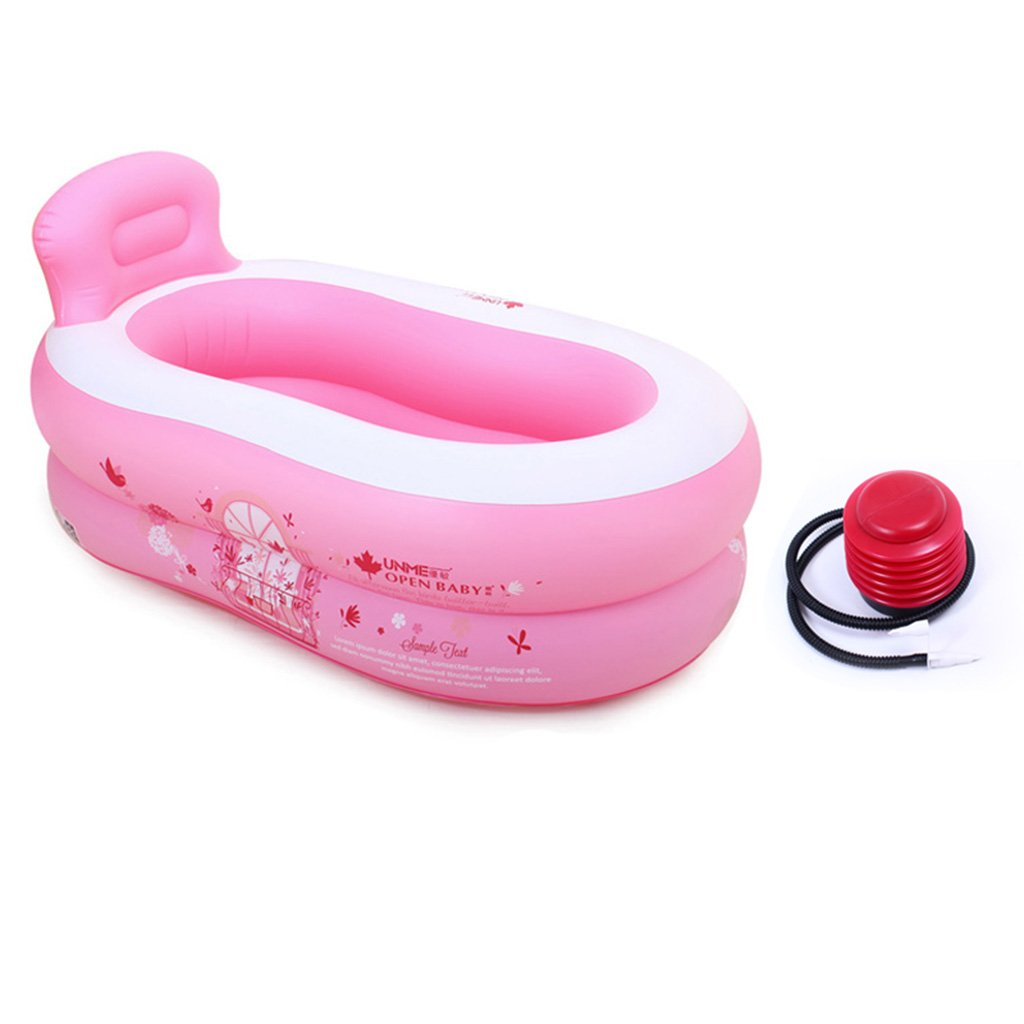 Folding bathtub Inflatable Bathtub Adult Thicker Bath Barrels Folding Tub Child Bath Barrels Plastic Tub Inflatable bathtub,Bath barrel ( Color : A , Size : Electric pump-120*40*40CM ) LIU WU FENG