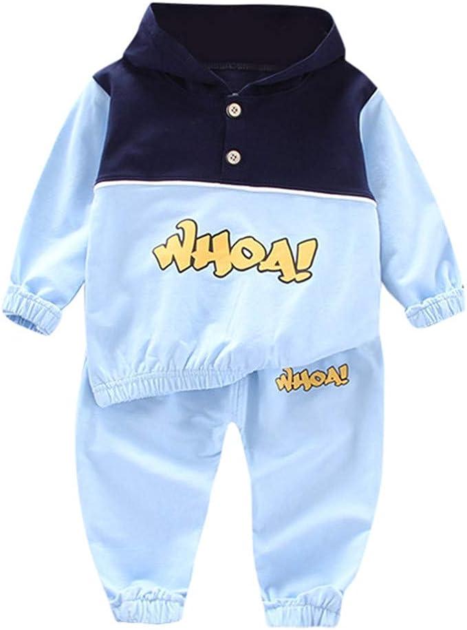 Sudadera con Capucha para Bebe niños niñas Tops y Pantalones ...