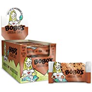 Bobo's Oat Bars (Chocolate Chip, 12 Pack of 3 oz Bars) Gluten Free Whole Grain Rolled Oat Bars - Great Tasting Vegan On-The-Go Snack, Made in the USA