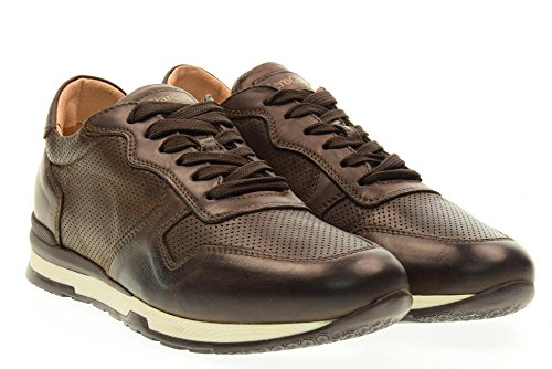 NERO GIARDINI man low sneakers P704800U / 300 Brown UsJ3OloI