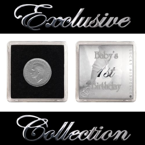 LUCKY SIXPENCE BABY'S FIRST BIRTHDAY BOY & GIRL The Traditional Gift Co
