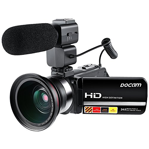 DOCAM 1080P Video Camcorder HD Night Vision Camera with Exte