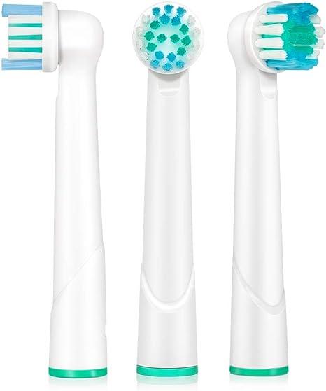 12 Pieza - Recambio para Cepillo eléctrico Compatible y en forma Braun ORAL B/OralB/Oral-B (Todos los modelos OralB / Oral-B Braun cabeza cepillo redondo) - compatible por ejemplo, con: Oral B Triumph,