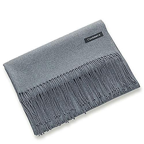 LeoIn Women Long Warm Winter Cashmere Soft Scarf Shawls Wraps (Grey)