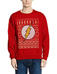 DC Comics Men's Flash Christmas Sweater Red