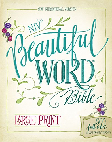 Coloring Books for Seniors: Including Books for Dementia and Alzheimers - NIV, Beautiful Word Bible, Large Print, Hardcover: 500 Full-Color Illustrated Verses