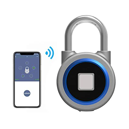 Leegoal Fingerprint and Bluetooth Connection Metal IP65 Smart Padlock with USB Charging