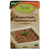 Pacific Natural Foods Organic roasted garlic mushroom lentil soup,
