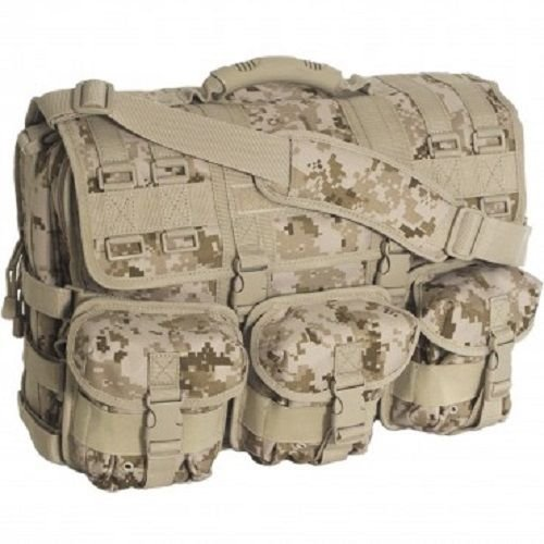 Computer Field Bag - Special Operations Desert Digital MOLLE Tactical Military Laptop Field Briefcase Shoulder