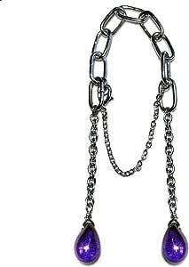 Lingerlet Crotch Charm Jewelry Shorts Bikini Beachtail Czech Glass Drops Purple