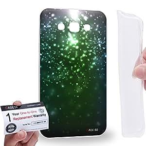 Case88 [Samsung Galaxy E7] Gel TPU Carcasa/Funda & Tarjeta de garantía - Art Fashion Emerald Green Particle Art1571