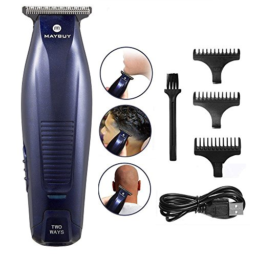 Maybuy Electric Hair Clippers Beard Trimmer Kit Rechargeable Cordless Hair Cut Trimmer Bald Hair Shaver T-Blade Hair Cutting Clipper for Men Women Kids and ()