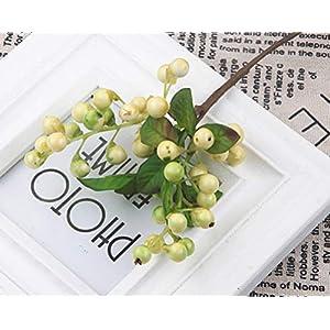 YJBear 10 Pcs Plastic Artificial Flower Arrangement for Home Decoration DIY Fake Silk Flower California Berry Stem Decor for Party Hotel Wedding Decor 5