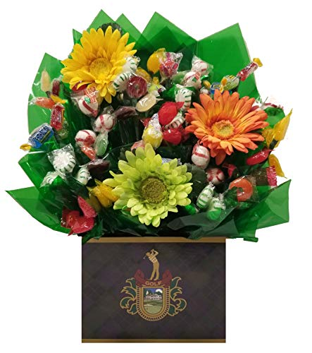 Golf Crest Hard Candy Bouquet gift - Great as a Birthday, Thank You, Get Well Soon, New Baby, New Home, Congratulations, Fathers Day, Mothers Day, Valentines Day gift for any occasion or party