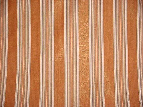 Bravo Fabrics Candia - Copper / Grey Faux Silk Stripe Designer Upholstery Drapery Fabric - By the Yard (Upholstery Stripe)