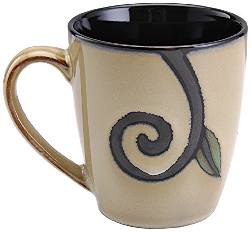 Pfaltzgraff Studio Trellis Stoneware Mug, 13-Ounce