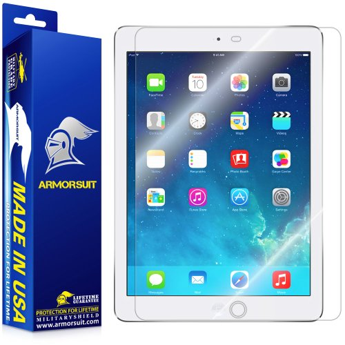ArmorSuit MilitaryShield - Apple iPad Air Screen Protector - Anti-Bubble Ultra HD Shield w/ Lifetime Replacements