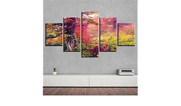 SUYUN Pintura Decorativa, HD Cinco en uno Pintura en Tinta árboles ...